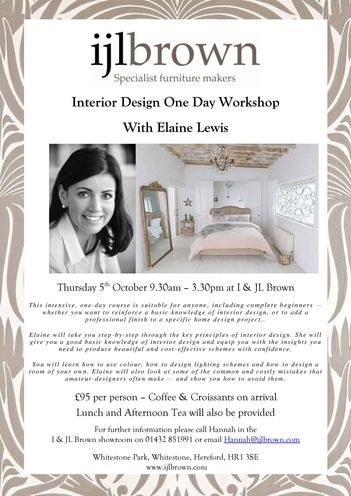 Interior Design Workshop with Elaine Lewis