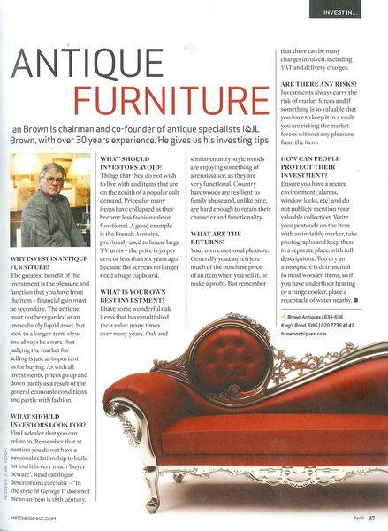 Charming Antique Furniture   Matchbox Magazine: Antiques   Matchbox April 2011