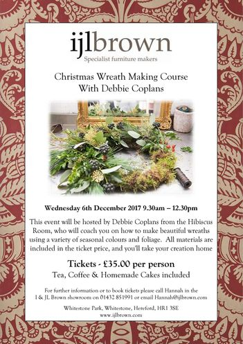 Christmas Wreath Making Course With Debbie Coplans