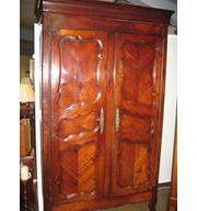 Antique Flat Top Cherry Armoire