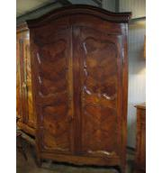 Antique Fruitwood Dome Top Armoire