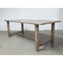 Limed Table with Centre Stretchers