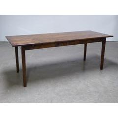 Taper Leg Walnut Dining Table