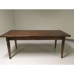 Basque leg Drawleaf Extending Table