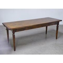 Basque Leg Drawleaf Table