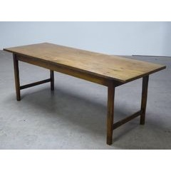 Dining Table with End Stretchers
