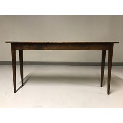 Console table with tapered legs