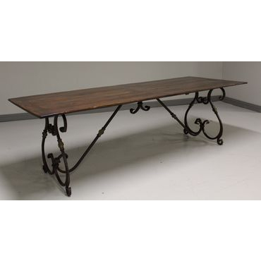 Metal Base Dining Table (0045-09)