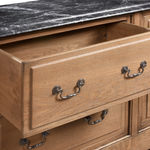 Bespoke 6 Drawer Marble Top Chest