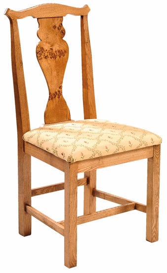 Chippendale side chair with pippy oak splat