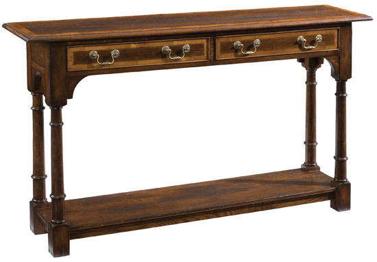 Turned Leg Console Table Long Servers And Console