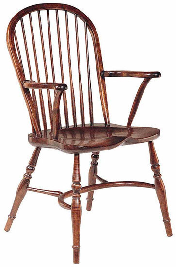 Cottage arm stickback chair