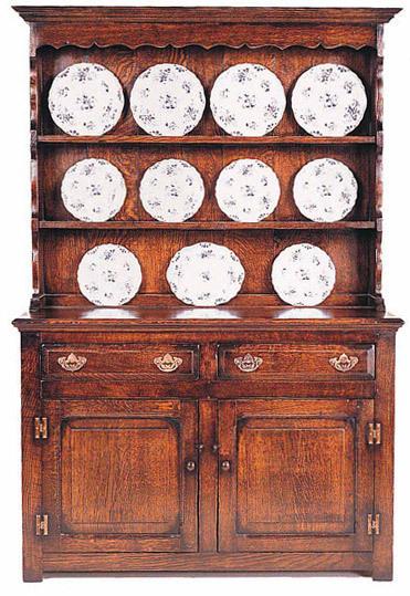 Cottage dresser and rack