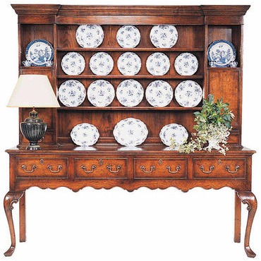 English Queen Anne dresser and rack