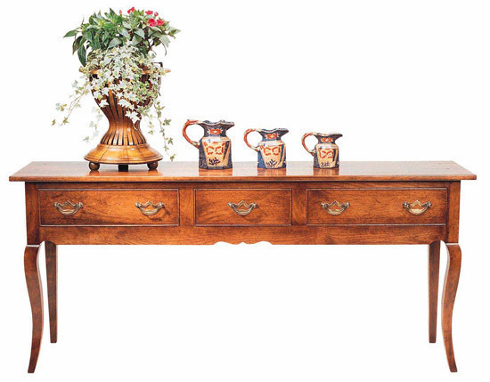 Server with French cabriole leg