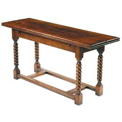 Refectory console with barley twist legs table