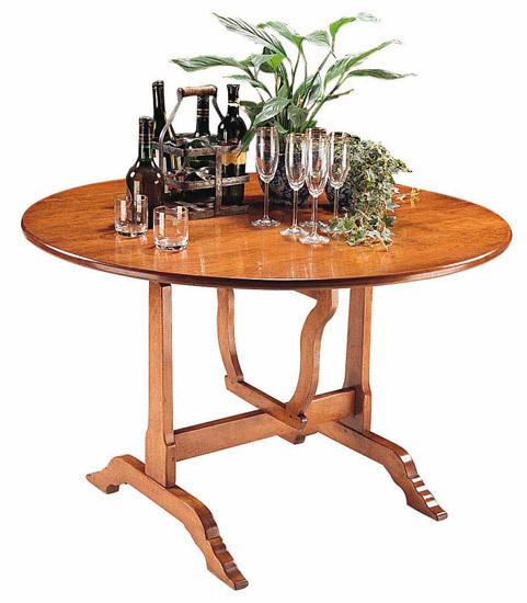 Round wine tasting dining table