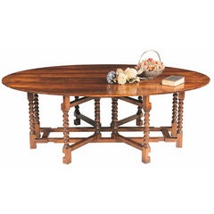Bobbin double gateleg dining table