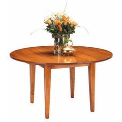 Round taper leg dining table