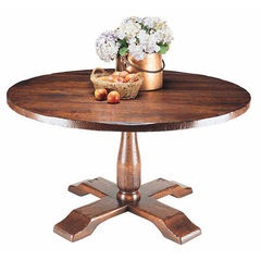 Round crossover base dining table