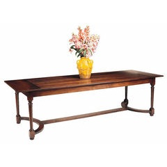 Presbytery turned leg country dining table