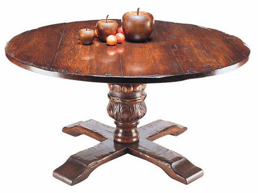 Jacobean hand carved bulbous dining table