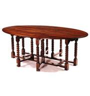 Barley twist double gateleg dining table