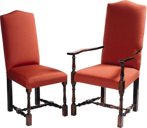 Elizabethan Turned Leg Upholstered Chair