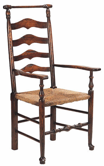 Macclesfield ladderback Arm chair: W545 Macclesfield Ladderback Arm