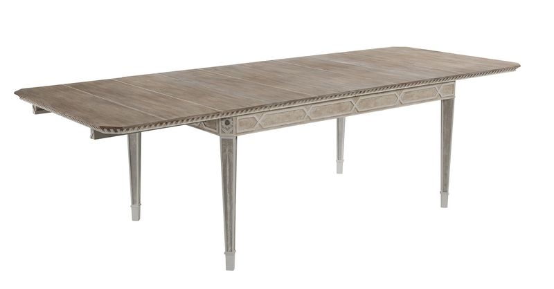 Cote D'Azur Extending Dining Table: 10 seater shown with two leaves