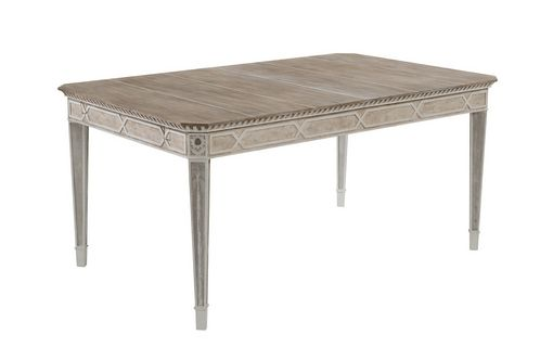 Cote D'Azur Extending Dining Table: 6 seater shown with no leaves