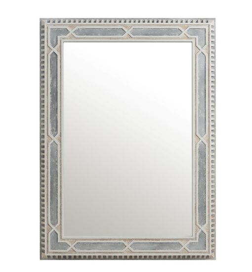 Cote D'Azur Rectangular Mirror: Portait hanging