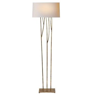 Aspen Floor Lamp in gilded iron