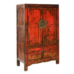 Red Laquered Wedding Cabinet