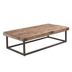 Vintage Metal Base Coffee Table
