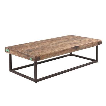 Vintage Metal Base Coffee Table
