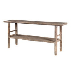 Elm Console with shelf