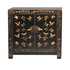 Black and Gold Chinoiserie Base