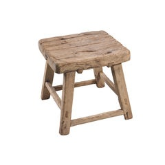 Square Elm Stool / Side Table
