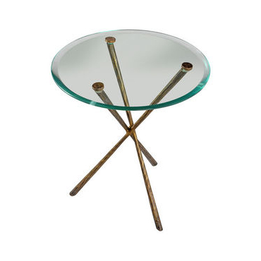 Olivia Glass Top Side Table