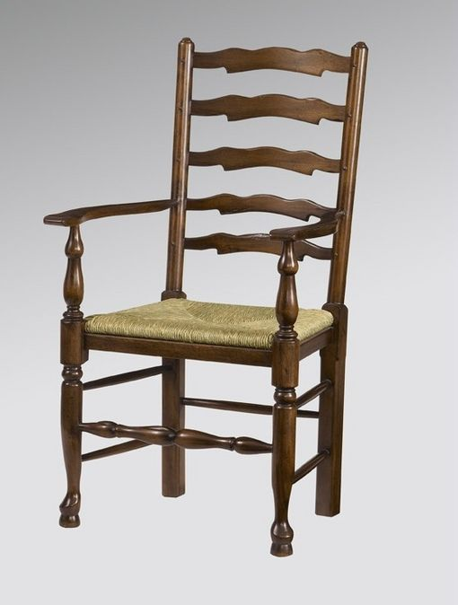 Yorkshire ladderback (pegged) arm chair