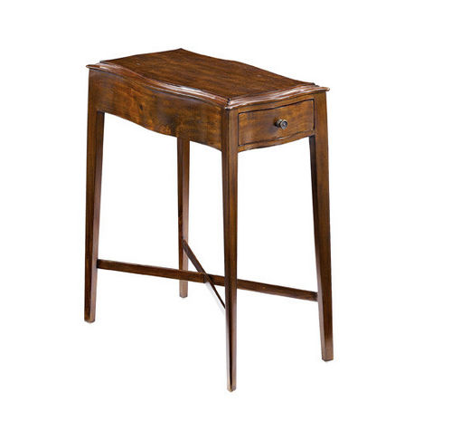 Chairside table with shaped top