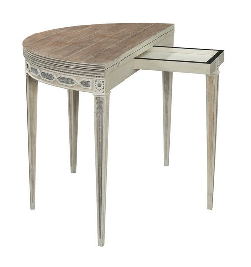Cote D'Azur Demi Lune Console to Round Table