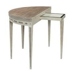 Cote D'Azur Demi Lune Console to Round Table