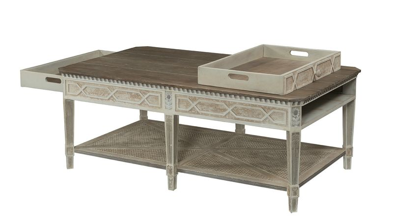 Cote D'Azur Rectangular Cocktail Table: CG862 showing removeable drawer tray