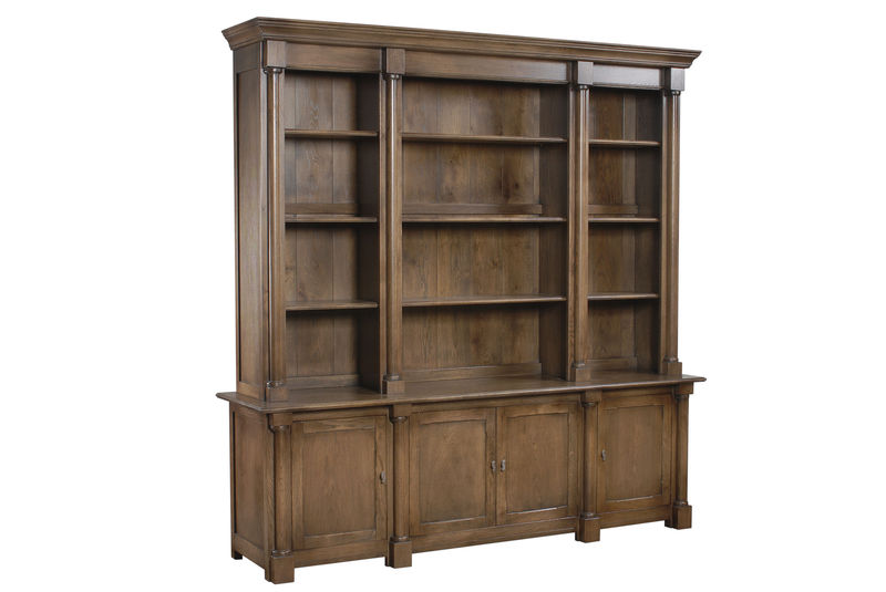 Columned Library Bookcase