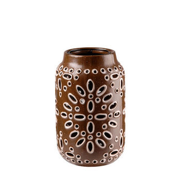 Brown Ceramic Lantern