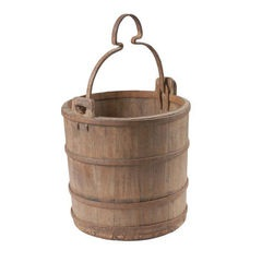 Old Wooden Water Bucket