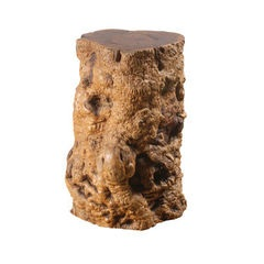Burr Wood Lamp Table / Stool