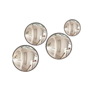 Set of 4 Round Convex Mirrors